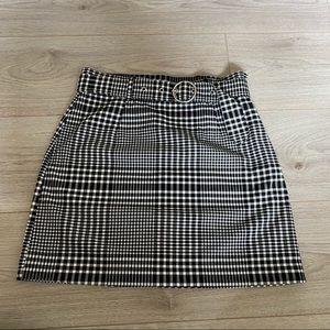 Gingham divided skirt